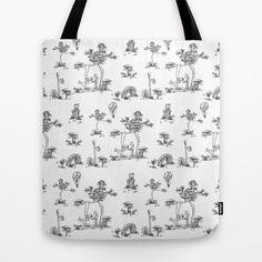 Black Toile Unicorn Tote Bag by That's So Unicorny - $22.00