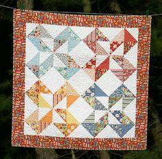 Quilt Story: Twin Fibers Dutch Pinwheel quilt for Grandma...