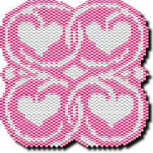 Hearts Amulet by Megan's Beaded Designs