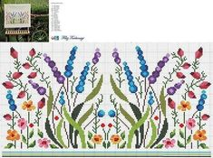Cross Stitch Bookmarks, Cross Stitch Heart, Cross Stitch Borders, Cross Stitch Flowers, Cross Stitch Designs, Cross Stitching, Cross Stitch Patterns, Floral Embroidery Patterns, Embroidery Hoop Art