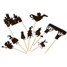Making shadow puppets - fun stuff! Could easily do with your Cricut!