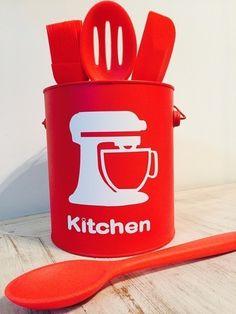 Mini balde Kitchen Red Crie & Deccor - CRIEDECOR