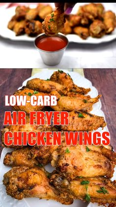Crispy Air Fryer Fried Chicken Wings is the best quick and easy recipe that will teach you how to fry and make fried chicken in the Power XL, Nuwave, or any air fryer brand. This healthy fried chicken is also keto, low-carb, and gluten-free. Air Fryer Recipes Chicken Wings, Air Fry Chicken Wings, Air Fryer Fried Chicken, Chicken Wing Recipes, Breaded Chicken Wings, Low Carb Chicken Wings, Air Fryer Chicken Thighs, Air Fried Food, Healthy Fried Chicken