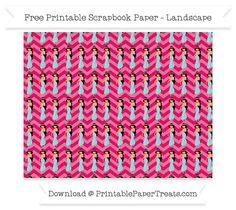 Free Landscape Ruby Pink Chevron Large Princess Jasmine Pattern Paper - Aladdin