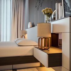 The bedroom is a place to relax, to be pampered, and to be romantic. With the average person spending thirty percent of their life asleep, why not make your bed Modern Bedroom Design, Master Bedroom Design, Bed Design, Home Bedroom, Bedroom Furniture, Furniture Design, Bedroom Decor, Bedroom Designs, Furniture Makers