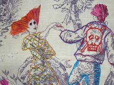 Richard Saja's Festively Subversive Embroidery