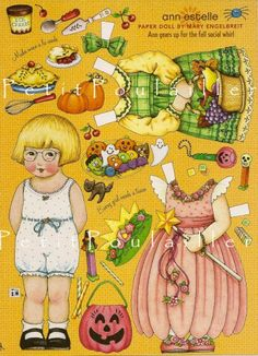Thanksgiving Paper Doll Sheet Mary Engelbreit Fall Play Time