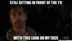 The walking dead funny meme. At the end of season 7 premiere