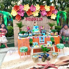 De Party Designs 's Birthday / Moana - Photo Gallery at Catch My Party Hawaii Birthday Party, Hawaiian Birthday, Luau Party, 3rd Birthday Parties, 2nd Birthday, Birthday Ideas, Moana Themed Party, Moana Party, Moana Birthday Party Theme