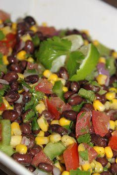 Straight Up Good Food: Black Bean and Corn Salad with Cilantro Lime Vinaigrette