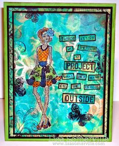 Mixed Media - all stamps Art Gone Wild.  BG created with Gelli Arts Plate, Acrylic Paints and stencil from The Crafters Workshop