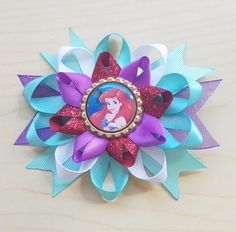 Ariel Inspired Hair Bow Little Mermaid Hair Bow by BerryTreasured