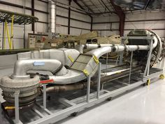 Ever wonder why the was so dang big? Here's a picture, courtesy of our friends at the National Museum of World War II Aviation, of the ducting for the turbo supercharger. Aircraft Photos, Ww2 Aircraft, Military Aircraft, F4u Corsair, Turbo System, P 47 Thunderbolt, Race Engines, P51 Mustang, Vintage Airplanes