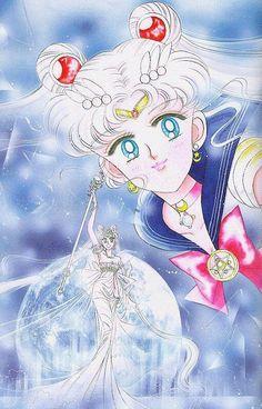 セーラームーン&ネオクイーン・セレニティ Sailor Moon and Neo Queen Serenity : 美少女戦士セーラームーン原画集 Bishoujo Senshi Sailor Moon Original Picture Collection Vol.2 by Naoko Takeuchi