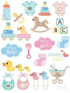 Resultado de imagen para stickers baby