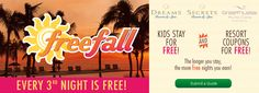 Up to two kids stay, play and eat free at Dreams Resorts & Spas! All Inclusive Vacation Packages, Dreams Resorts, Free Coupons, Punta Cana, Spas, Resort Spa, The Secret, Night, Fall