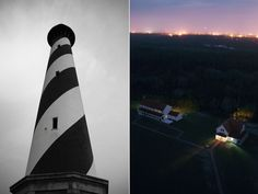 Cape Hatteras Lighthouse day and night. | #OBRphotos #CapeHatteras #lighthouse