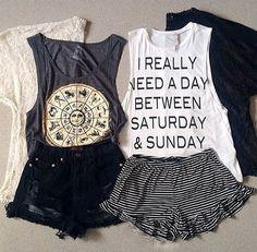 Teenage Fashion Blog: Saturday & Sunday Cute Outfit For Teenage