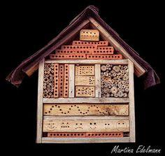 Insektenhotel Insektennisthilfe Nisthilfe Schilf Bohrungen Strangfalzziegel