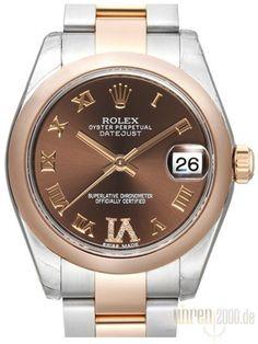 Rolex Datejust 31 Edelstahl Roségold 178241 Choco R DIA