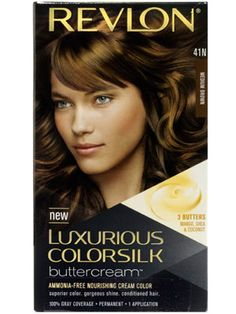 This Revlon Luxurious ColorSilk Buttercream permanent at-home hair color left hair vibrant, smooth, and shiny....