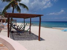 Cozumel beach hammocks