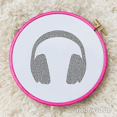 Endless-Ecostitch-Embroidery #EEE Stickdatei – Headphones