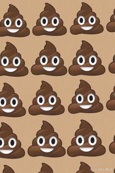 Poop emoji background