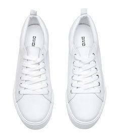 new arrival 59dd8 c9a61 Zapatillas deportivas   Blanco   Mujer   H M MX Zapatos Blancos Mujer,  Tenis Mujer Blancos