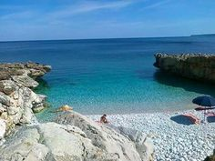 Spiaggia dei Sassi Bianchi, Monte Cofano, Sicilia