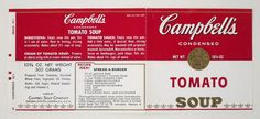 Warhol, Campbell's Soup label invitation, Philadelphia ICA, 1965, recto   Flickr - Photo Sharing!