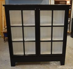Case made of old windows