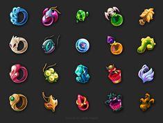 Game Icons by Hana Fanda, via Behance