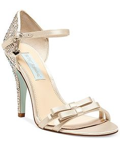 Blue by Betsey Johnson Bow Evening Sandals