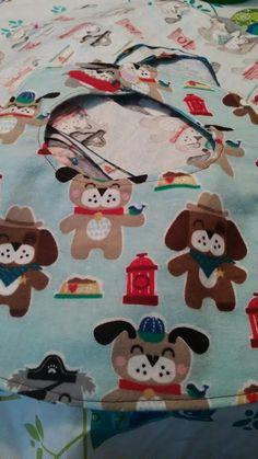 Doggy flannel baby bibs by RoseCityCrafter on Etsy