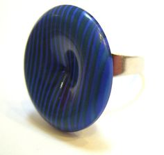 Blue-striped ring
