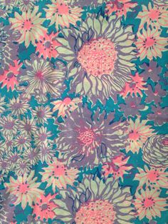 7f80536fccdf Vintage Lilly Pulitzer fabric in Petal Power by Zuzek Key West Hand Print  Fabrics (floral, flowers, spring, daisies, zinnias, cosmos)
