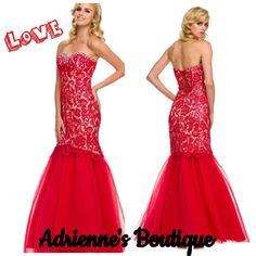 In love with this red lace dress. Adrienne's Boutique 225-622-3156