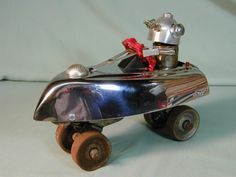 ROBOT MARS CAR  Found Object Robot Sculpture by NutzenBoltsWorks