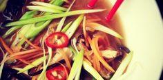 Miso Ramen Soup with Shitake and SeaweedDietary: VeganServes: 4Miso StockIngredients:1.5litres water1 medium onion, quartered2 carrots, cut in halves2 celery stalks, cut in halves1 leek8 whole black peppercorns30g dried shitake mushrooms30g piece of kelpMethod:Soak the kelp and