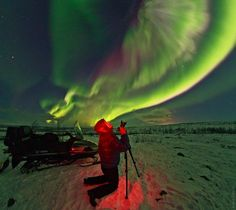 """ikenbot: """" Aurora Photographer by Babak A. Tafreshi A spectacular display of Aurora Borealis or the Northern Lights lit up the sky over Sweden Mountains near Kiruna, in the Arctic region. Lapland Northern Lights, Alaska Northern Lights, See The Northern Lights, Narvik, Tromso, Polo Norte, Skier, Iceland Photos, National Geographic Travel"""