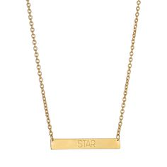 STAR BAR NECKLACE.