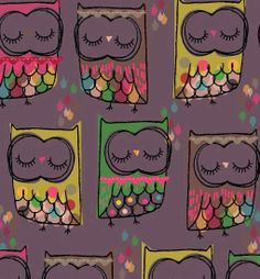 owl pattern ♥ Jilly P Graphics