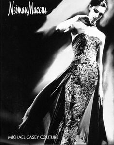 Michael Casey Couture Neiman Marcus Art of Fashion, Fall 1996.  Photo by Lillian Bassman.