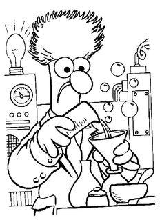 kleurplaat muppets - Beaker