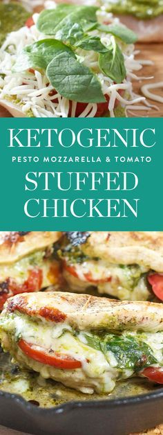 Get this delicious recipe for Pesto Mozzarella and Stuffed Chicken by Laughing Spatula and more of the best Ketogenic recipes here.
