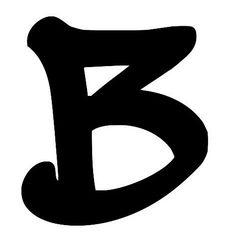 Buchstabe / Letter B