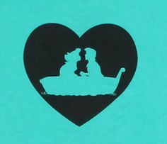 Ariel and Eric Silhouettes by LittleRedPanda93 on Etsy 800