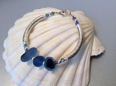Sterling silver and Seaham seaglass multi by Caribbeanmemories