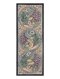 Multicolor Fish Madhubani Painting- x Tanjore Painting, Madhubani Painting, Mural Painting, Mural Art, Canvas Paintings, Painting Tips, Abstract Paintings, Watercolor Painting, Murals